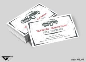 wizytówki dla warsztatu samochodowego retro - gotowy wzór