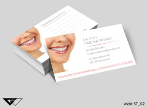 wizytówki dla dentysty delikatne