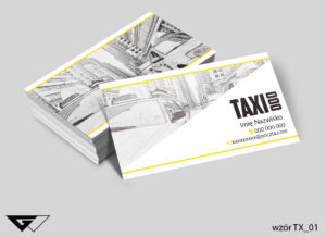 Wizytówka taxi folia mat