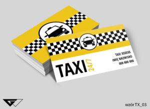 wizytówka taxi