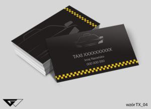 Wizytówki taxi lakier UV - gotowy wzór