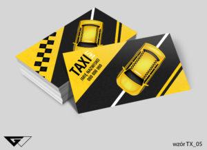 wizytówka taksówkarz - gotowe wzory