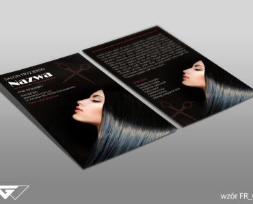 Ulotka dla fryzjera gotowy wzór tani druk Kraków Myślenice