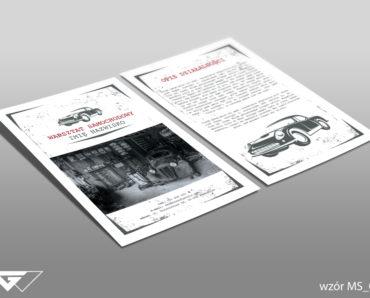 Ulotka dla mechanika gotowy wzór tani druk Kraków Myślenice