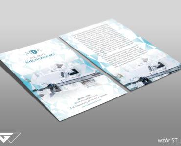 Ulotka dla dentysty gotowy wzór tani druk Kraków Myślenice