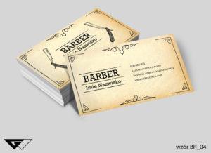 Wizytówka barber old style gotowy wzór