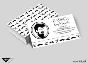 Wizytówka barber black&white style gotowy wzór