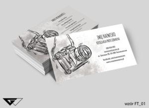 wizytówka dla fotografa rysynkowa