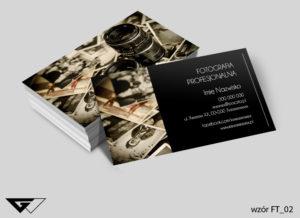 wizytówka dla fotografa vintage - gotowy wzór