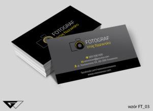 Wizytówka dla fotografa - lakier UV