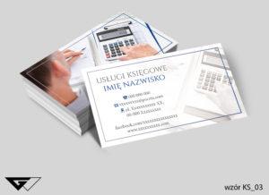 wizytówka dla firmy podatkowej -gotowy wzór