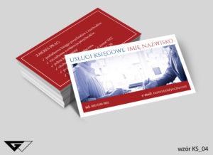 wizytówka profesjonalne usługi księgowe