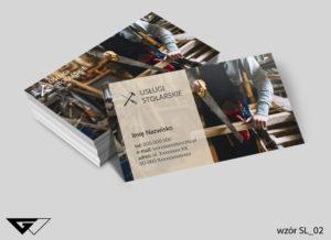 Wizytówka usługi stolarskie rzemiosło gotowy wzór