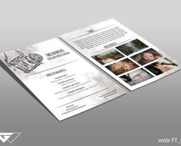 Ulotka dla fotografa gotowy wzór tani druk
