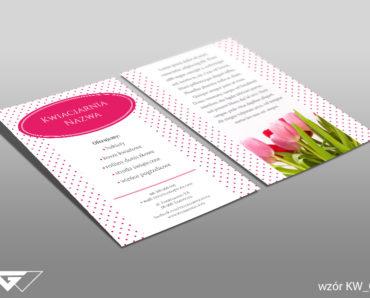 Ulotka dla kwiaciarni gotowy wzór tani druk