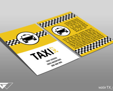 Ulotka dla taxi gotowy wzór tani druk