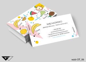 wizytówka dla dietetyka gotowe wzory tani druk
