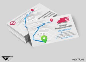 Firma transport przeprowadzki wizytówki wzory druk