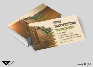 Firma transport i logistyka wizytówki wzory druk