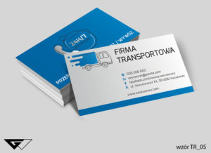 Firma transportowa wizytówki wzory druk