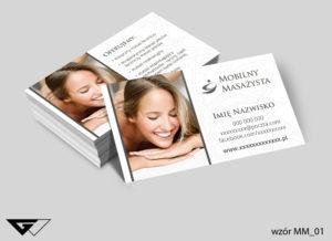 Wizytówki mobilny masażysta projekt gratis tani druk