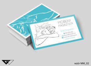 Wizytówki dla masażysty projekt gratis tani druk