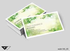 wizytówka dla ogrodnika gotowe wzory tani druk
