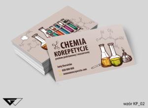 wizytówki chemia korepetycje