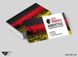 Wizytówki korepetycje z niemieckiego
