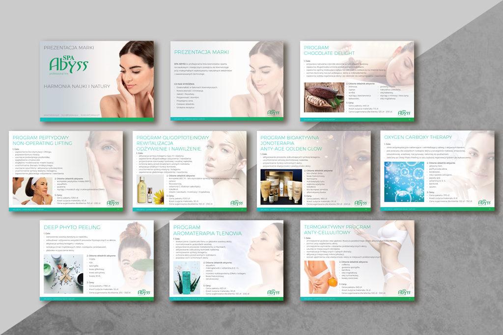 Profesjonalne prezentacje dla producenta profesjonalnej linii kosmetyków, naturalne składniki